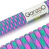 Ganzoo Paracord 550 Seil für Armband, Leine, Halsband, Nylon-Seil 30 Meter, neon pink
