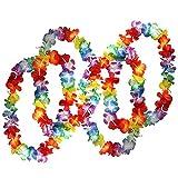 SODIAL 50 x Collares de flores hawaianas tropicales por - Gran cantidad de collares - Traje de flores de Hawai Accesorios perfectos para cumpleanos tematicos, disfraces y bodas.