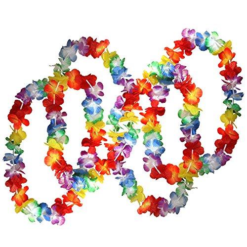 Hawaii Hochzeit Shirts (Nrpfell 50 x tropisch Hawaiian Blume Halsketten von - Grosse Viele Halsketten - Hawaiian Blumen Anzug Perfekte Zubehoer Fuer Themen Geburtstage, Kostueme und Hochzeiten.)