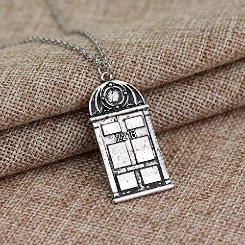 Halsketten für Herren Film Schmuck Dr. Mysterious Police Box House Pendant Neckalces Doctor Who Necklace Halloween Frauen Männer Weihnachtsfeier Geschenk