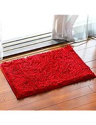 Chenilla tapetes baño esteras anti - derrape alfombra de baño alfombra de pies absorbentes salón dormitorio salón de cabecera Foothill ( Color : H )