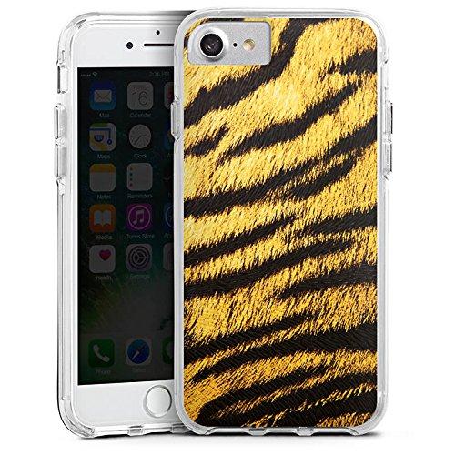 Apple iPhone 6s Bumper Hülle Bumper Case Glitzer Hülle Tiere Animals Tiger Fell Look Bumper Case transparent