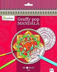 "Avenue Mandarine ""navideñas graffy Pop Mandala Colorear Pack (Black/White)"