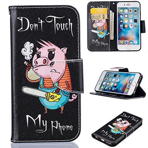 iPhone SE/5S Fall, firefish PU Leder Wallet Case [Kartenfächer] [Standfunktion] Magnetverschluss kratzfest Schützen Fall für Apple iPhone 5/5S/SE Apple iPhone 5/5S/SE schwein