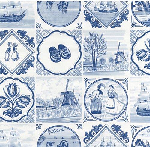 Klebefolie - Möbelfolie - Friesisch blau - 45 x 200 cm - Dekorfolie