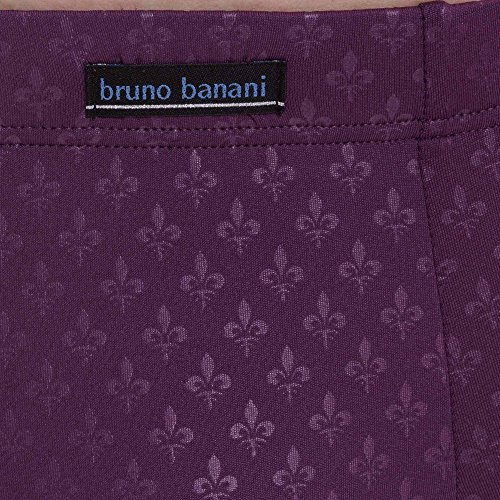bruno banani Herren Short Limitless Violett (Aubergine Print 2374)