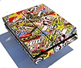 Full Sticker Bomb Console Skin Wrap Cover + 2 x Controller Wrap Stickers for PS4 Playstation 4 by Ellis Graphix