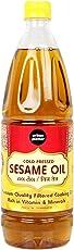 Urban Platter Cold Pressed Sesame Oil, 1L [Premium Quality Filtered Cooking Oil, Rich in Vitamin & Minerals]