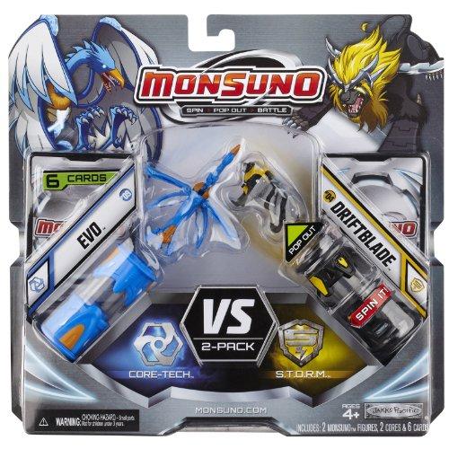 Monsuno Serie 1 - 2er Core Starter-Set avec Evo #09, Driftblade #04, 2 Cores et 6 Cards