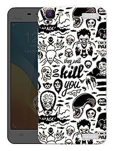 "Humor Gang Dark Typography PatternPrinted Designer Mobile Back Cover For ""Vivo V1 Max"" (3D, Matte Finish, Premium Quality, Protective Snap On Slim Hard Phone Case, Multi Color)"