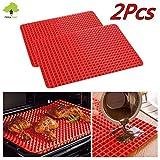 RYC Pyramid Pan Silikon-Backmatte / Backofen-Backblech, pyramidenförmige Mulden, nicht haftend, für fettreduziertes Kochen/ Backen, Silikon, 2pcs
