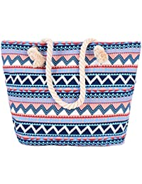 CY Large Beach Bag Canvas Travel Big Tote Bag Shoulder Bag 13.5 Inch Beach Bag By Chuangyu