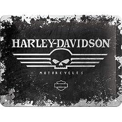 Harley-Davidson Skull Logo Cartel de Chapa 15x20 cm
