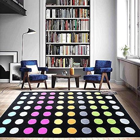 Stile Casual e moderno forme Multi Color Easy Care tessili per la casa tappetino tappeto Materasso pad antiscivolo Tappeti per pavimenti duri Lovely dot pattern
