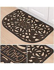 Alfombra gruesa de la alfombra del pvc, estera antideslizante del cuarto de baño del cuarto de baño, la puerta en la estera casera del polvo del hogar ( Color : F )