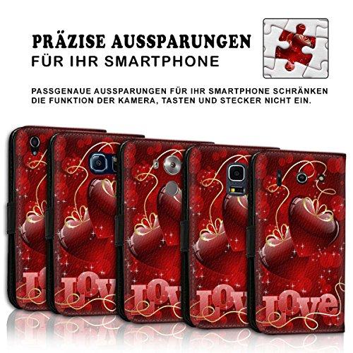 Wallet Book Style Flip Handy Tasche Case Schutz Hülle Schale Motiv Etui für Apple iPhone 6 Plus / 6S Plus - Variante UMV15 Design12 Design 12