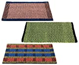"Story@Home Traditional Style Eco Series Crochet 3 Piece Cotton Blend Door Mat Set - 16""x 24"", Multicolour"