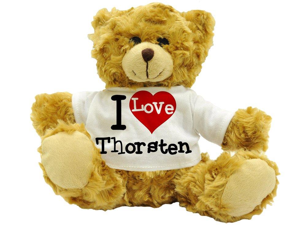 Ich Liebe Thorsten–niedliche Plüsch Teddy Bär Name Geschenk (Höhe ca. 22cm) 3
