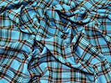 Sapphire Plaid Polyester kariert Schottenmuster passend