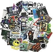 Cool Hacker Computer Stickers for Teen, Developer Laptop Waterproof Vinyl Water Bottle Notebook Car Skateboard