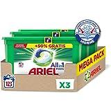 Ariel Pods Allin1 Detergente en Cápsulas para Lavadora, Original, 123 Lavados (3 x 41)