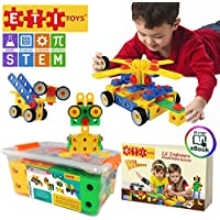 ETI Toys STEM Learning Original 101 Piece Educational Construction Engineering Building Blocks Set for 3 , 4 and 5+ Year Old Boys & Girls Creative Fun Kit Best Toy Gift for Kids Ages 3yr – 6yr