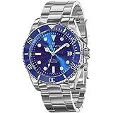LANDWIN orologio da polso da uomo automatico orologio subacqueo bracciale in acciaio inossidabile analogico orologio impermea
