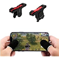 odestro® New Red Black Best PUBG Trigger Fire and Aim Button Game Shooter, Sensitive Shoot with. Pubg Finger Sleeve Anti…