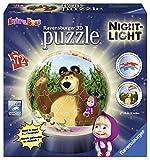 Ravensburger 12179 - Masha e Orso Lampada Notturna Puzzle 3D
