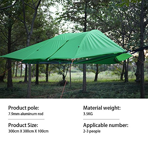 Jungle Tent ...  sc 1 st  UK Sports Outdoors C&ing Hiking Jogging Gym fitness wear Yoga & Jungle Tent Hammock with Mosquito Net UMsky Connect 3-Person 4 ...