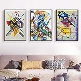 Vintage Célèbre Abstrait Impression Toile Peintures Wassily Kandinsky Affiche Mur Art Photo pour Salon Home Decor sans Cadre