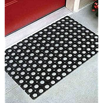 Online Quality Store Rubber Door Mat Single Pcs Black (Size U003d 16*24 Inches,  Material Rubber)