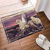 LUIXJGEDF Einhorn Duschvorhang,mythische Kreaturen Engel Pegasus Pferd Geschichten von...