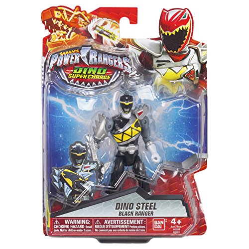 Image of Power Rangers 12.5 cm Dino Supercharge Armed Up Mode Ranger Figure (Black)