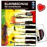 Klavierschule für Erwachsene Band 1 mit CD - Neuausgabe 2014 - von den Grundlagen wie Noteneinführung und Fünftonlage bis zum vierstimmigen Akkordspiel - mit herzförmiger Notenklammer