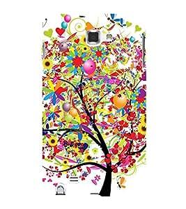 Fiobs Designer Back Case Cover for Samsung Galaxy Note 2 :: Samsung Galaxy Note Ii N7100 (Colorful Tree Beautiful Cool Patterns)