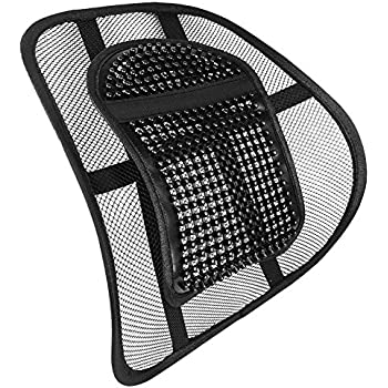 Mesh Lumbar Back Support For Office Chair Car Seat Etc Amazonco - Back support chair