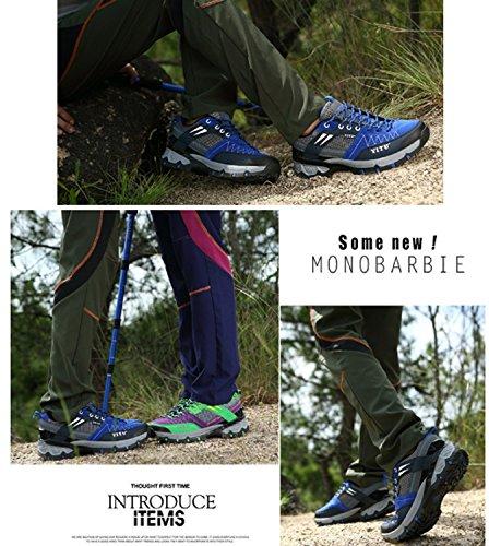 Antiscivolo da uomo Antivento Elastico Performance Sport all'aria aperta Scarpe da escursionismo low-top eleganti con scarpe casual da alpinista Blue