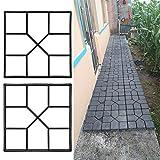 Pflaster Betonform Gehweg Form Pflasterform Schalungsform Gehwegplatten für Garten 40x40cm