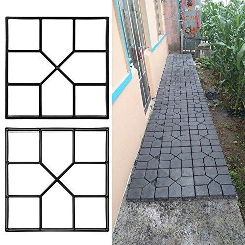 Pflaster Betonform Gehweg Form Pflasterform Schalungsform Gehwegplatten für Garten 40x40cm -