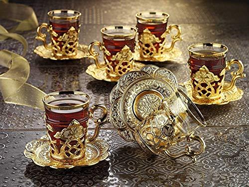 Premium vergoldet Tee Set–Made in Türkei