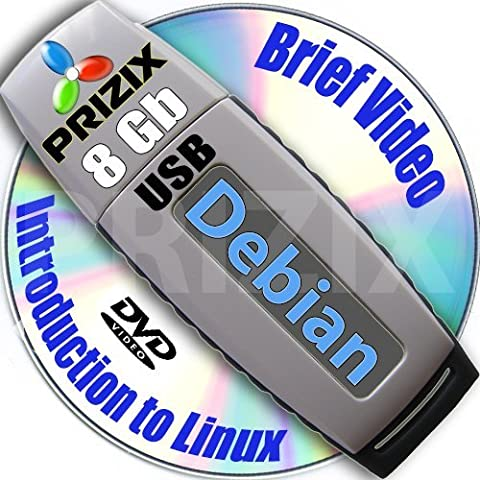 Debian 8 sur 8 GB flash USB et DVD d'installation complet 3-disques et Set de reference ensemble, 32 et 64-bit
