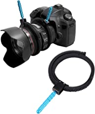 Nighty Adjustable Follow Focus Ring Zoom Gear Ring with Aluminum Alloy Grip Shifter Lever for SLR DSLR Camcorder Camera