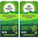 Organic India Tulsi 25 Tea Bag- Pack of 2 (Green Tea Classic)
