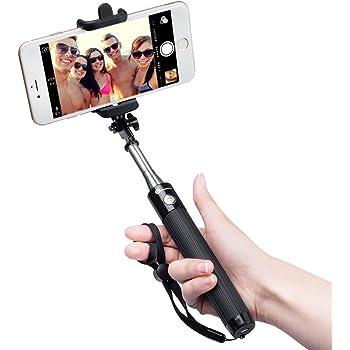 Bastone Selfie Bluetooth TaoTronics Asta Selfie Bluetooth Portabile Selfie Stick con Asta Estendibile fino a 80cm, Controllo Wireless, Materiale Inossidabile, 20 ore di Autonomia, Asta per Selfie Bluetooth Compatibile con Smartphone Android, iOS iPhone X 8 7 7 plus 6 6s 6s plus Samsung Galaxy s7 edge Huawei p9 lite