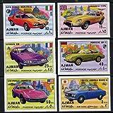 Ajman 1971 Modern Cars imperf set of 6 u/m (Mi 1169-74B) CARS DIXI PACKARD DURKOPP FIAT MAYBACH BMW BENZ WARTBURG JandRStamps