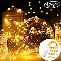 Mr.Twinklelight® Led Fairy Lights, 12 Pack 2.2M 22 LEDs Micro String Lights Battery Operated for Wedding/Party/Christmas/DIY Decorations etc -Warm White
