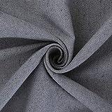 Deconovo Tischdecke Tischwäsche Lotuseffekt Tischtuch 130x280 cm Grau - 8