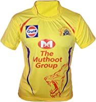 JS Chennai Super Kings Unisex ipl Jersey for Kids & Mens