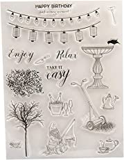 YeahiBaby Fishing Clear Stamp Transparent Seal Stamps for DIY Scrapbooking Craft Card Photo Album Diary Decoration